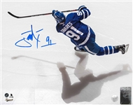 John Tavares, Signed 8x10 Unframed Maple Leafs Overhead