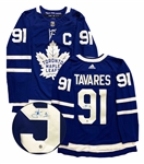 "John Tavares, Signed Jersey Toronto Maple Leafs Blue Pro Adidas with ""C"""