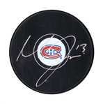 Max Domi Signed Puck Canadiens Logo