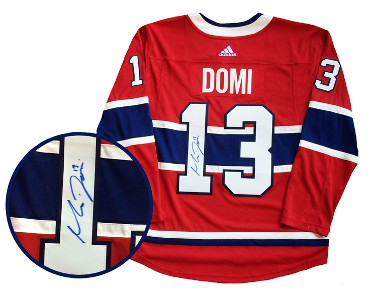 Max Domi Signed Jersey Canadiens Red Pro 2019-2020 Adidas