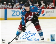 Nathan MacKinnon, Signed 8x10 Unframed Avalanche Bent Over