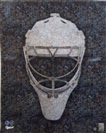 Curtis Joseph, Signed 16x20 Unframed Goalie Mask Mosaic