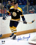 Johnny Bucyk, Signed 8x10 Unframed Bruins Black