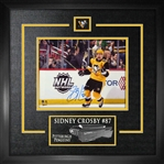 Sidney Crosby, Signed 8x10 Etched Mat Penguins Celebration