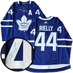Morgan Rielly Signed Jersey Toronto Maple Leafs Blue Pro Adidas