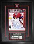 Carey Price, Signed 8x10 Etched Mat Canadiens Action