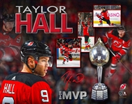 Taylor Hall, Signed 11x14 Unframed Devils MVP 2018 Collage
